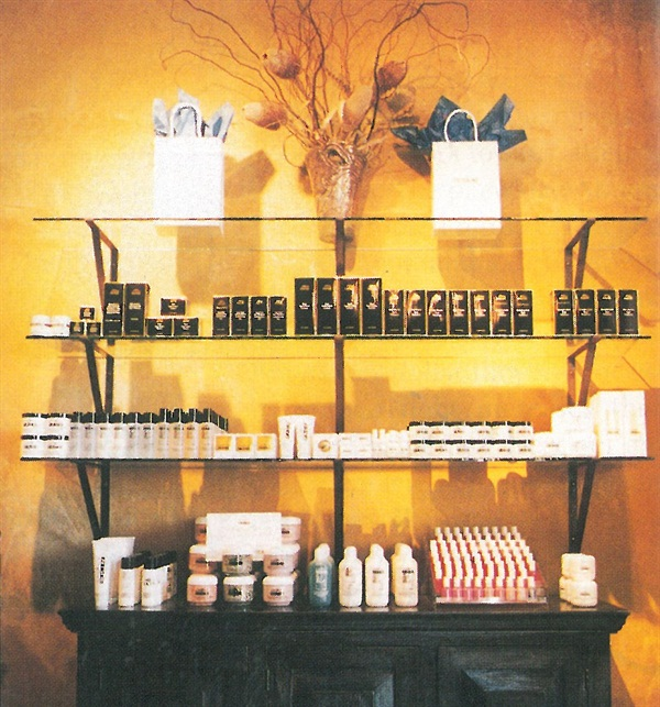 <p>An old fashioned credenza adds a warm touch to the display of product at Gadabout's Speedway location.</p>