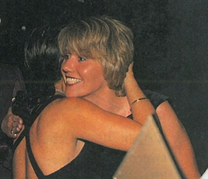 <p>Debra Shoaff gets a hug from NAILS Shows competition director Sharon Parker when her name was called at the NAILS Industry Awards banquet.</p>
