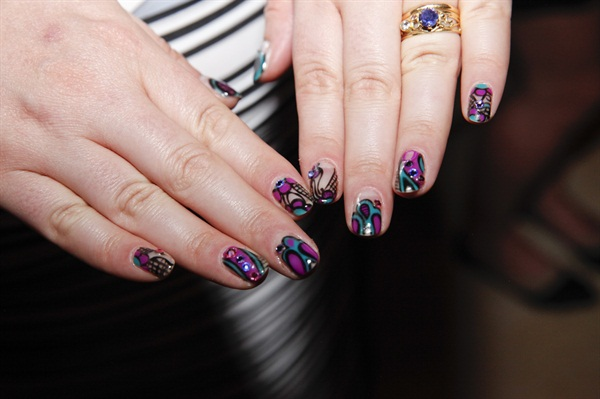 <p>Hannah Pearlman's nails for the show.</p>