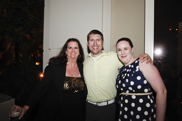 <p>Party host Jennifer Ivanov, and Nate and Ashley Sorensen of Emerald and Ash lacquer</p>