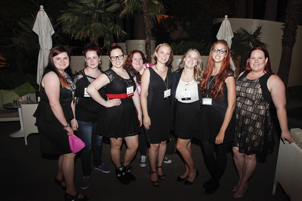 <p>Some of the many indie polish designers and bloggers we met at the event.</p>