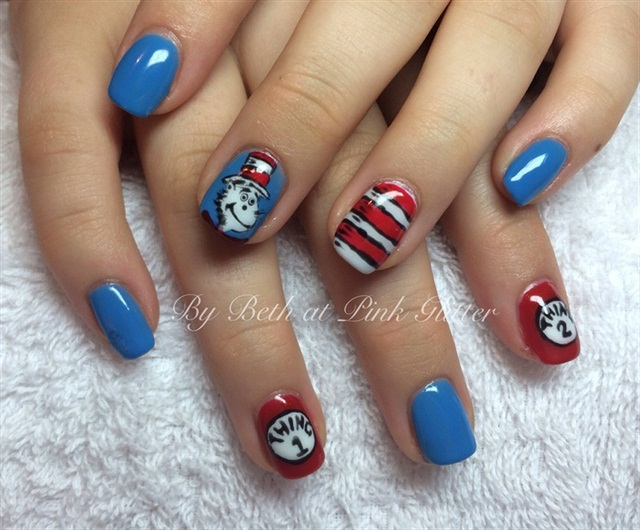 "<p>Via <a href=""http://nailartgallery.nailsmag.com/pinkglitter/photo/355450/cat-in-the-hat"">Nail Art Gallery </a></p>"