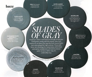50 shades of gray polish style nails magazine. Black Bedroom Furniture Sets. Home Design Ideas
