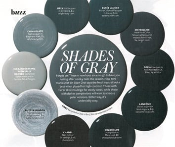 Gray Shades 50 shades of gray polish - style - nails magazine