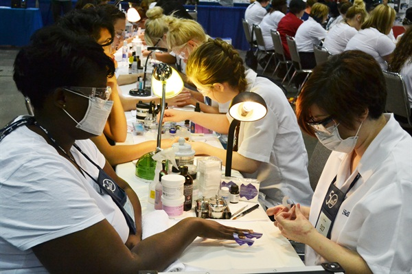 <p>Students are tested on all aspects of nail care.</p>