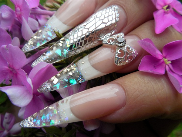 Day 109 Stiletto Snakeskin Nail Art Nails Magazine