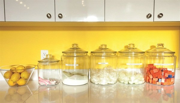 We Store All Our Buffers, Files, Lotions, Scrubs, Etc. In Cute Cookie Like  Jars, And That Way The Clients See They Are New And In A Sanitary Container.