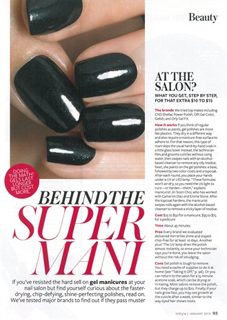Iinstyleis review of gel manispedis style nails magazine instyle magazine in its january 2013 issue tried cnd shellac power polish opi gel color gelish and orly gel fx at several different neighborhood salons solutioingenieria Image collections
