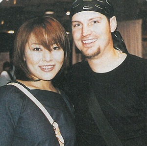 "<p>This year's #1 nail competitor is Eriko Kurossaki (left), here with her friend and ""rival"" Tom Bachik. </p>"