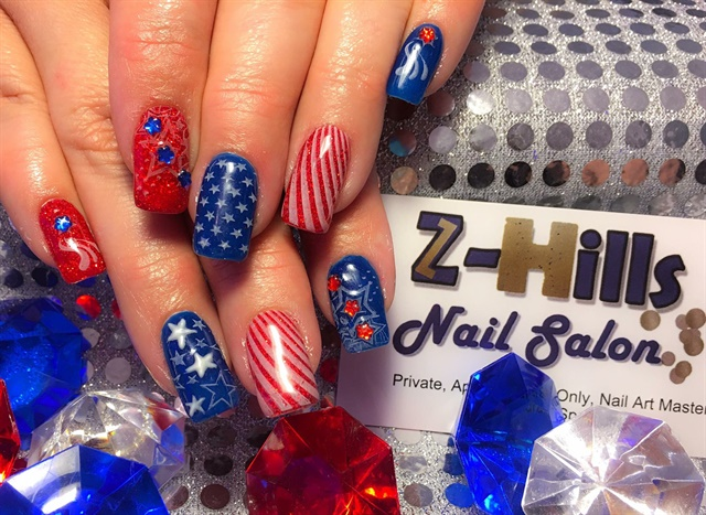 Formally known as Z-Hills Nail Salon, the Nail Whisperer offers its clients festive nail art.