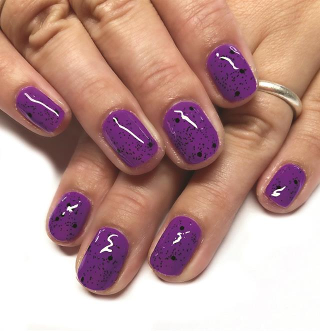 Add Sparkle With Toppers Gel-Polish Top Coat - Technique - NAILS ...