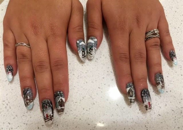 Mani Monday Winning Winter Nail Art From Mario Tricoci Nails