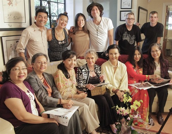On the set with the #NailedIt: Vietnamese & the Nail Industry crew, who interviewed Tippi Hedren, actress Kieu Chinh, and five of the original 20 Vietnamese women in the U.S. nail industry.