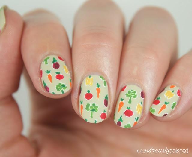 Veggie Nail Art for World Vegetarian Day - - NAILS Magazine