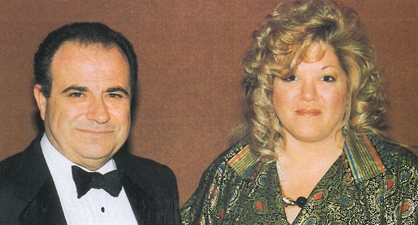 <p>Tom Scandlyn and Adrea Naime were all decked out for the evening's festivities.</p>