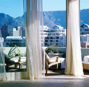 The magnificently situated top floor spa is a welcome and restful retreat for guests of Cape Grace in Cape Town, South Africa.