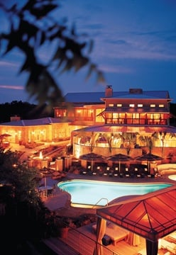 Guests can enjoy pedicures poolside at the beautiful Lake Austin Spa.