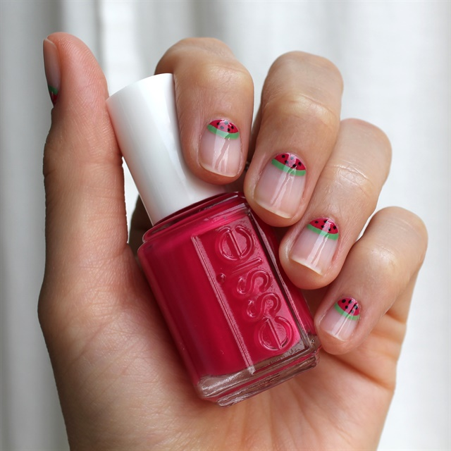 Essie Watermelon Slice Nail Art - Style - NAILS Magazine