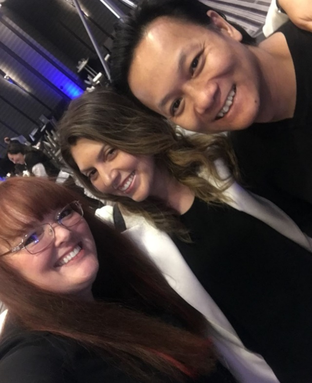 <p>Me (center) with Holly Schippers and Tan Nguyen</p>
