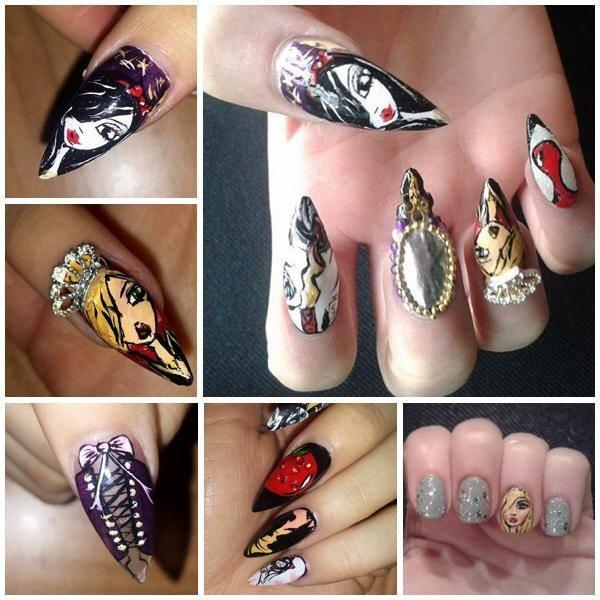 <p>Here is some of the nail art I've been working on.</p>