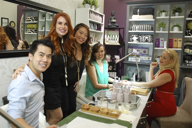 Tin Bui, owner Melanie McCulley, Karen Ho, and Pamela Wilson make up the spa team at Well Manicured.