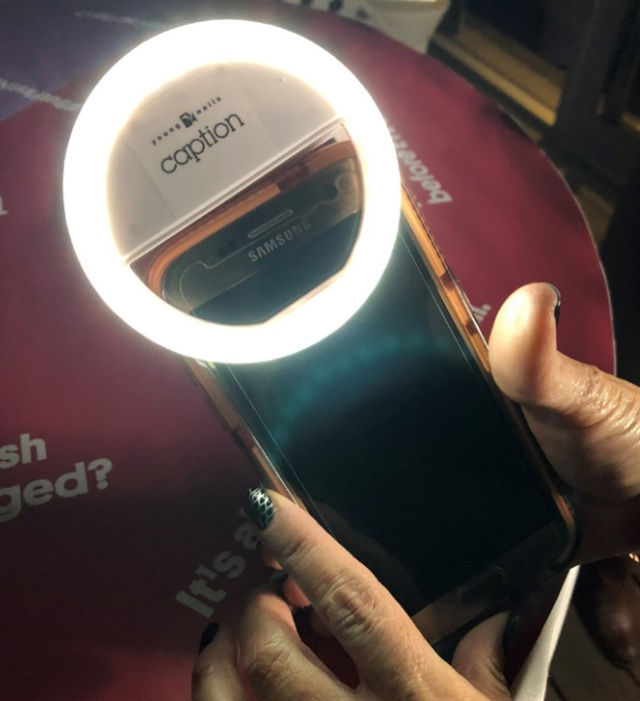 <p>The coolest party favor: a Young Nails ring light for your phone</p>