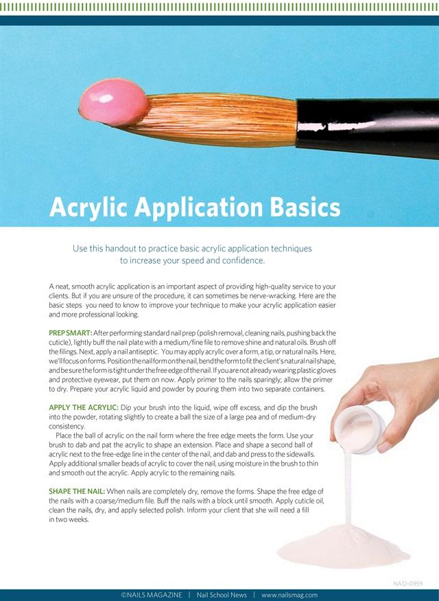 Handout: Acrylic Application Basics