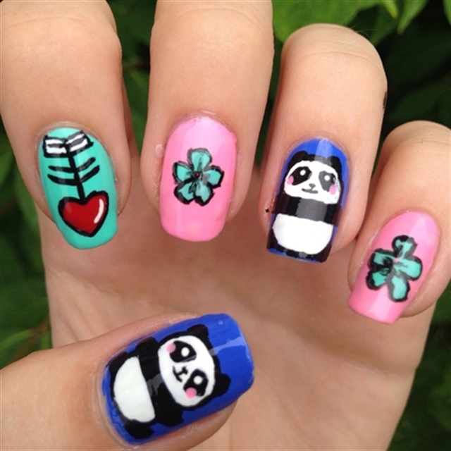 Panda Nail Art: Panda Nail Art For National Panda Day