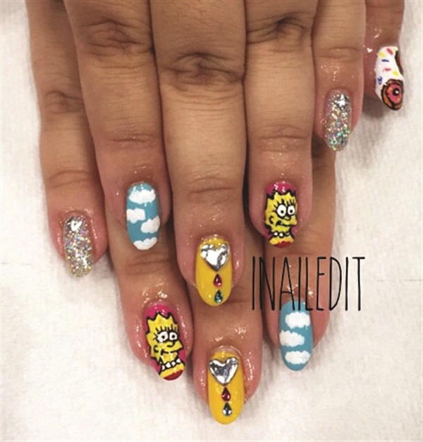 <p>Kelly (@i_nailed_it) gave a happy client a Simpsons set.</p>