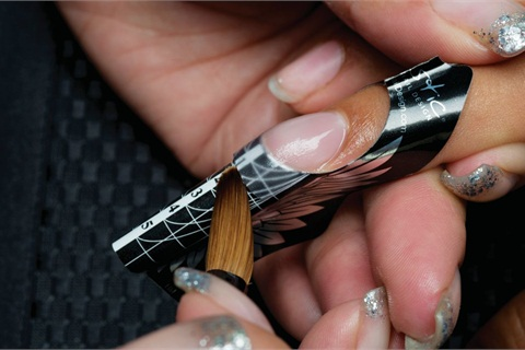 Artistic Nail Designs Rock Hard Liquid And Powder Application