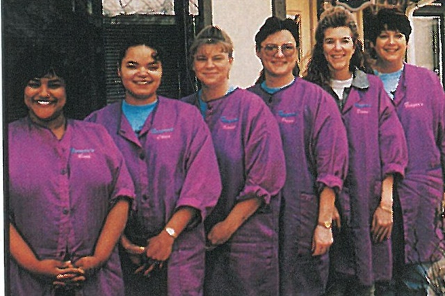 <p>Touting professionalism as its trademark, the staff at Finger's wears lab coats as well as safety glasses. Picutred here (left to right) are Ruth Wilson, Chris Jacson, Kristi Brown, Peggy Brach, Dawn Boudreaux, and owner Shari Finger. </p>