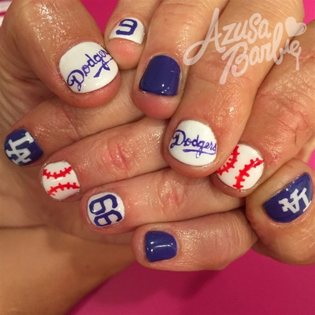 Dodger Blue - 15 Major League Baseball Nails For Opening Day - - NAILS Magazine