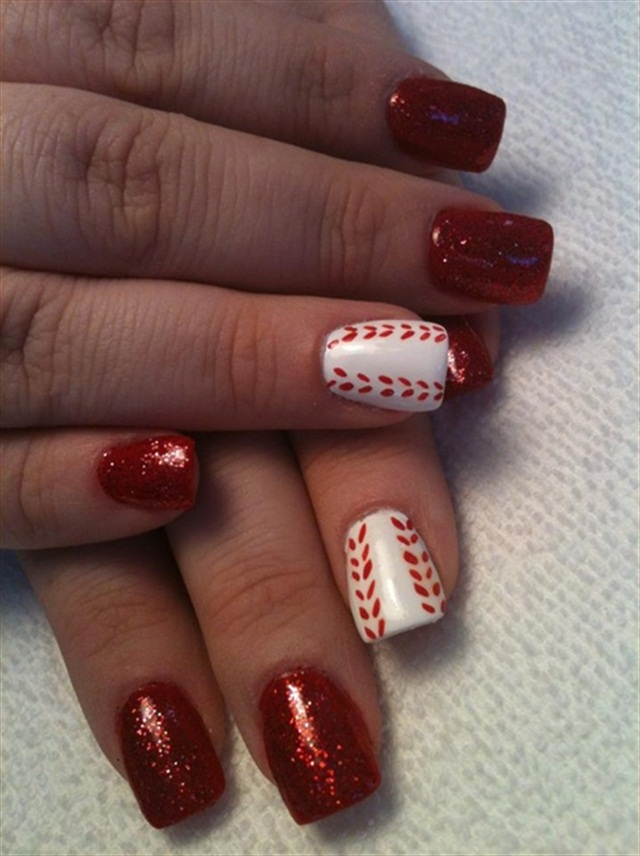 Double red-der - 15 Major League Baseball Nails For Opening Day - - NAILS Magazine