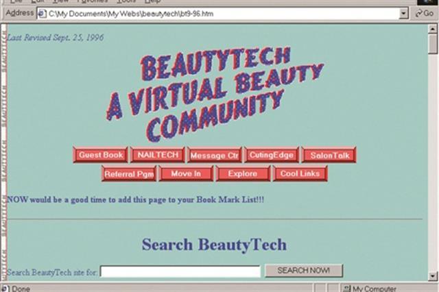 <p>BeautyTech.com 1996</p>