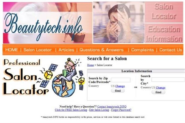 <p>BeautyTech.info added a salon locator feature in 2010</p>