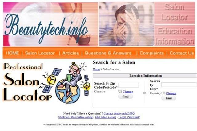 <p>BeautyTech.info added a salon locator feature in 2010</p>