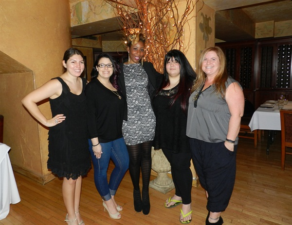 <p>NAILS senior editor Beth Livesay (left) worked on the weekly challenges for NAILS NTNA and was one of the weekly judges.</p>