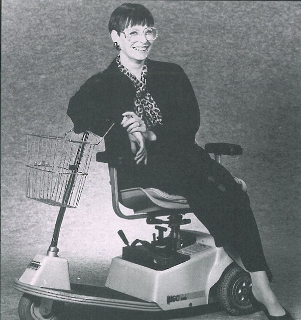 <p>Cosmetologist Chris Bingham, who plans to open a salon designed especially for the mobility impaired, has multiple sclerosis and must use a motor scooter occasionally. </p>