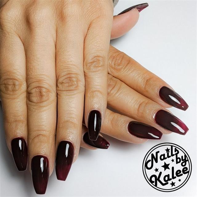 """<p><a href=""""http://nailartgallery.nailsmag.com/nailsbykalee/photo/559371/oxblood-nails"""">Via Nail Art Gallery </a></p>"""