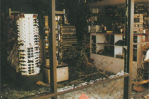 <p>Stevie's Eurospa sustained heavy damage when a tornado stormed through the town of Kissimmee, Fla., in February. The front of the salon, including the retail section, was hardest hit. </p>