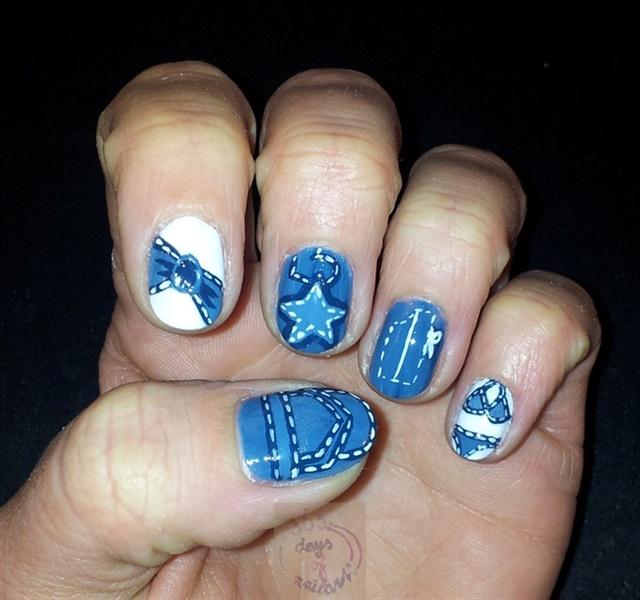 16 Denim Nail Designs Nails Magazine
