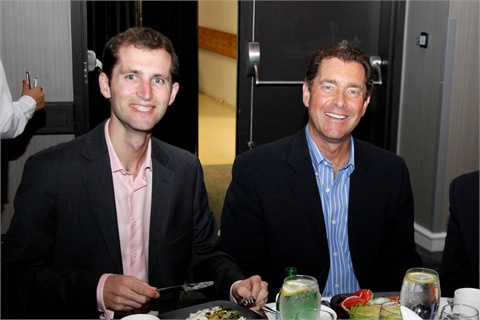 <p>Blake Bobit and Ty Bobit were on hand to celebrate with NAILS and our sister publications. Bobit Business Media is the parent company of NAILS.</p>