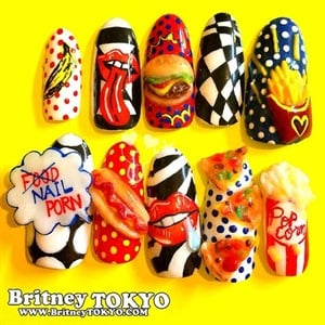 Pop art nail art lessons tes teach nails next top nail artist introduces final 12 style nails 8 by american pop art and prinsesfo Choice Image