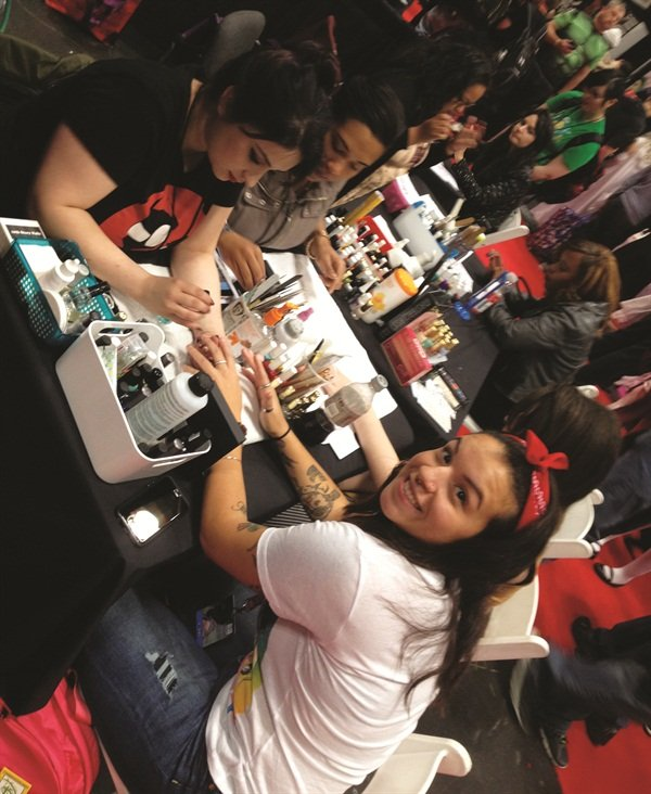 <p>Fans paid $25 and up for superhero nail art.</p>