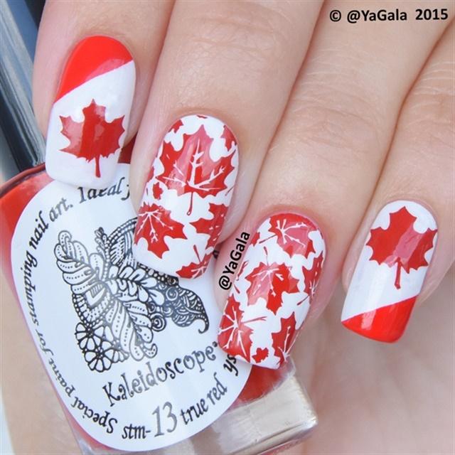 Nail Art for Canada Day - - NAILS Magazine