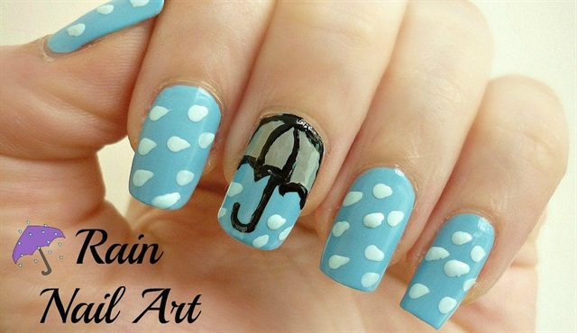 Via YouTube/Cherry Blossom Nail Art