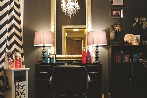 Stunning decor is part of the salon's charm and appeal.