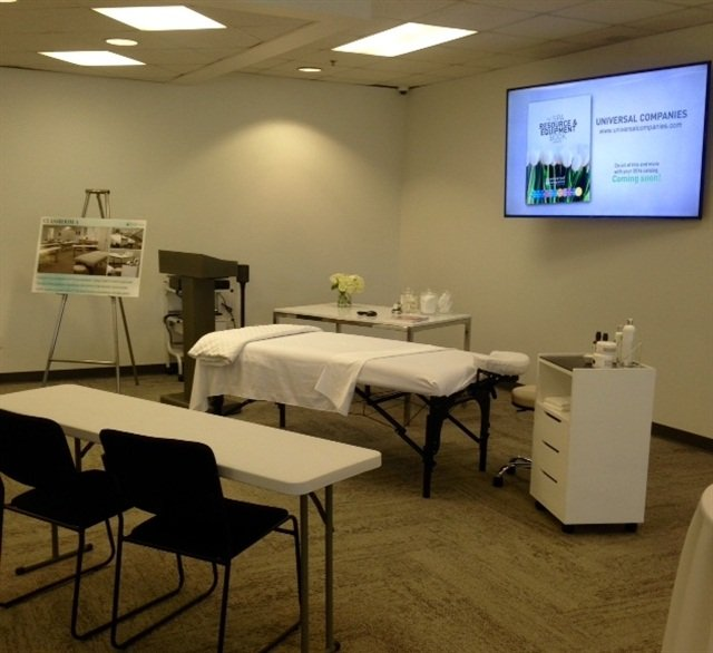 <p>The center has two large general classrooms, a private waxing classroom, and a separate nail classroom.</p>