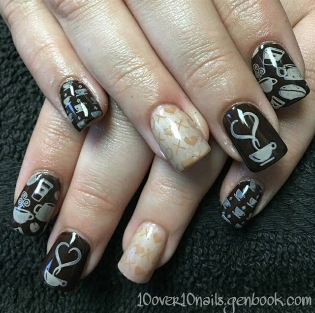 Nail Art For National Coffee Day Nails Magazine