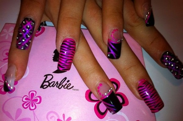 Day 145 barbie and lipstick nail art nails magazine day 145 barbie and lipstick nail art prinsesfo Images